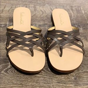 Splendid JoJo Brown Slide Sandal